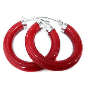 2 PC FREE postage Real red Jade 925 Silver Clasp Ring Earrings Free shipping(China (Mainland))