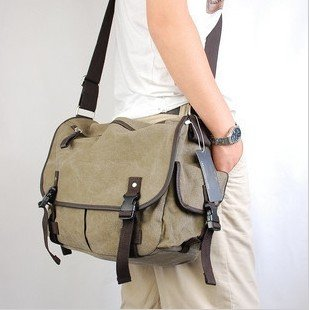 china post mail free shipping fashion men's bag casual canvas bag,Single shoulder bag(China (Mainland))