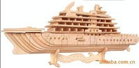 Mixed order-DIY car model-woodcraft construction kit-stereo puzzles-3D fancy toy-educational toys passenger liner