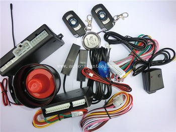 RFID keyless entry with press button start  12