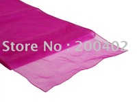 table runner/  fuchsia organza  table runner