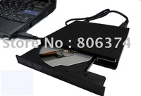 Free shipping&Black External Laptop USB2.0 CD DVD-RW Burner Drive