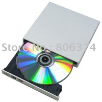 Free shipping&White External Laptop USB2.0 CD DVD-RW Burner Drive