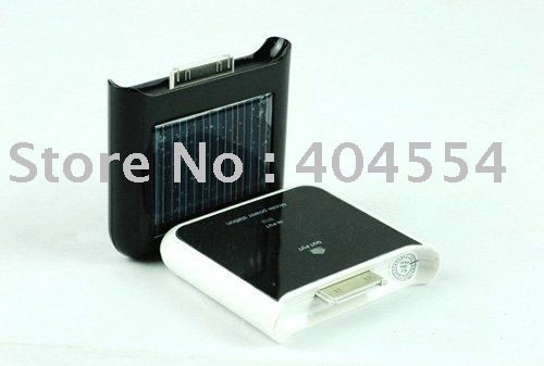 Free Fast Shipping 50pcs Brand New Black White Portable Solar Charger For iPhone 3G 3GS with Retail Box(China (Mainland))
