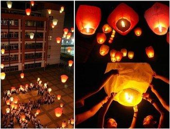 free shipping Sky Lanterns,Wishing Lantern fire balloon Chinese Kongming lantern Wishing Lamp for BIRTHDAY WEDDING PARTY gift