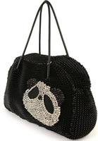 Guaranteed 100%Best sellingFree shipping tote bag panda style shoulder Bags wire Bags/weave bags(black)