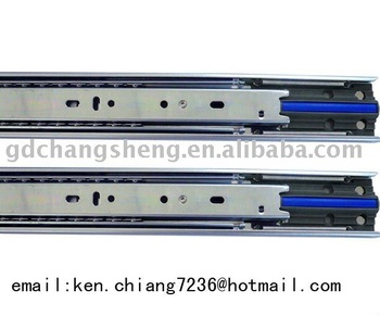 Guangdong Foshan factory cabinet hardware accessories:full extension telescopic ball bearing soft closing drawer slide