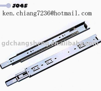 hot sale 45mm 3-fold #3045 full extension ball bearing telescopic 32mm system hole drawer slide