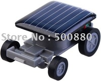 Free shipping Big Discount Sale The World's Smallest Car Solar Powered Educational Toy car New,Mini Children Solar Toy Gift