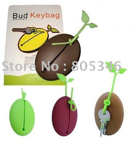Free shipping Coffee Bean Key Bag Holder Keychain(China (Mainland))