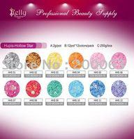 Free Shipping 6sets/lot 12 Colors Nail Art Decoration Hexagon  Glitter Flakies