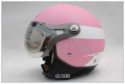 New Arrival! BEON summer half face motorcycle helmet pink color(China (Mainland))