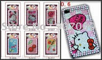 HELLO KITTY phone sticker cellphone sticker for cellphone mobile phone laptop stickers 100pcs Freeshipping