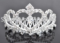 Bridal Tiara WEDDING CROWN VEIL SWAROVSKI CRYSTAL