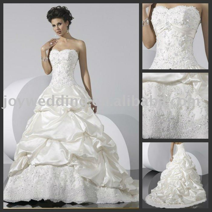 MW0066 Free shipping silk satin taffeta Best selling Prom short jacket sleeve Sweetheart Strapless bridal wedding gown(China (Mainland))