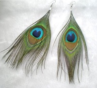 Natural Peacock Feather Earrings,Free Shipping ,Earring Jewelry,Woman Earrings,Fashion jewelry,Costume Jewelry