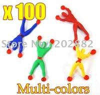 100pcs/lot Free shipping tumbling spider men ,tumbling superman, children's toys OPP Bag Free Shipping
