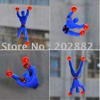 50pcs/lot Free shipping tumbling spider men ,tumbling superman, children's toys OPP Bag Free Shipping