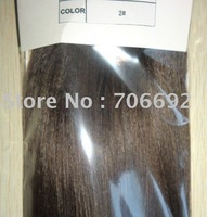 "22"" 22inch #2 100g / set Full Set Straight Indian Remy Clip On In Hair Extensions DHL Shipping"