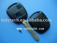 Toyota 2 buttons remote key shell with TOY43 blade no logo
