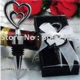 wedding favor--Double Heart Top Bottle Stopper
