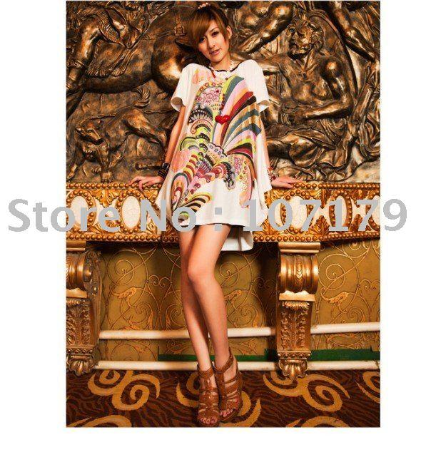 Transporte da gota livre Moda feminina Algodão Big T shirt Size senhora lidera 2 cores atacado mulheres guarnições X201120(China (Mainland))
