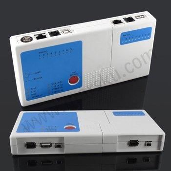 Multifunctional RJ45 RJ11 USB BNC Cable Tester  #875