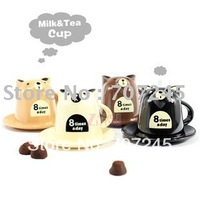 Free ship!!hot!!8pc!Cute Bear milk tea  coffee cup / couples breakfast water  gift cup(small size)