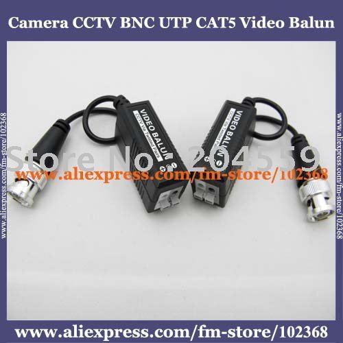 200pcs Camera CCTV BNC UTP CAT5 Video Balun Twistered Pair Transceiver Cable AT-C12-19B(China (Mainland))
