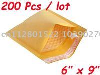 "200 Pcs Kraft Bubble Mailers Padded Envelopes Bags 6""X9"""