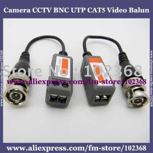 10pairs Camera CCTV BNC UTP CAT5 Video Balun Twistered Pair Transceiver Cable AT-C12-06(China (Mainland))