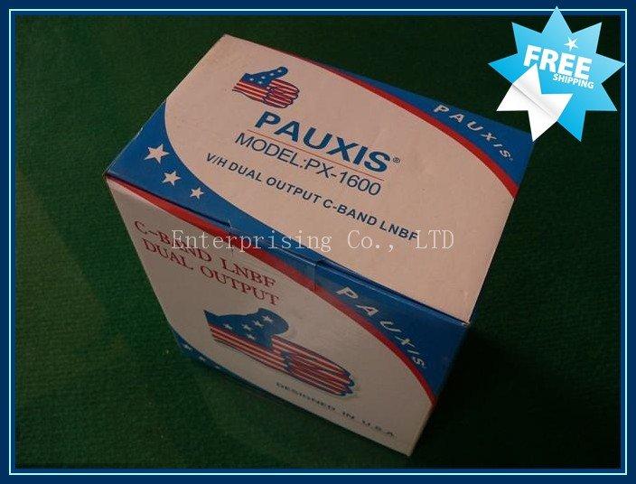 C LNBF banda, Shippping gratuito , V / H saída dupla Pauxis PX -1600 c -band LNBF(China (Mainland))