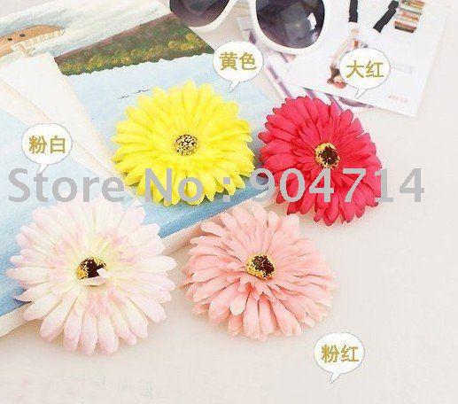 atacado Africano margarida headpin / flores BB anéis de cabelo / Bolsas e acessórios de vestuário / flores artificiais / 8 cor / tamanho D10cm(China (Mainland))