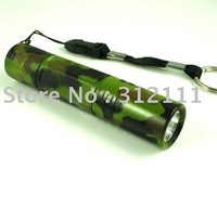 1pcs/lot New Wholesale 3W Led Mini Super Bright Torch Handy Flashlight Army Green  hot sell