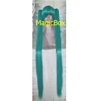 Vocaloid Hatsune Miku Party Cosplay Wig 2 Polytails Dark Green 120cm HIGH QUALITY FREE SHIPPING