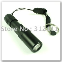 1pcs/lot New Wholesale 3W Led Super Bright Waterproof Torch Flashlight for Camping Hiking black hot sell