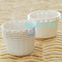 3000pcs Mini Round MUFFIN Paper Cake Cup Cake case cupcake cases Plain White