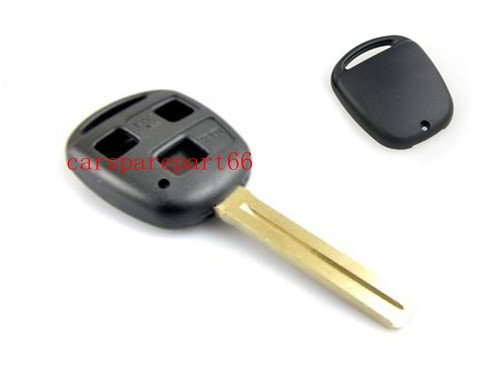 Free shipping! fast delivery 60pcs/lot new uncut 3buttons toyota key shell (no logo )( long blade)(China (Mainland))