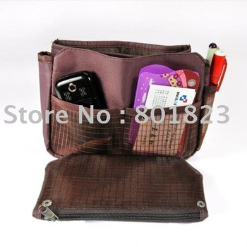 50 pcs/lot-Cheap price-Makeup/MP3 Phone Storage Organizer Multi Bag,Purse Handbag Organizer Insert - roll bag pouch,cosmetic bag