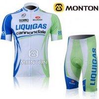 Free shipping 2011 Tour de france new  LIQUIGAS team cycling jersey+shorts size S-XXXL
