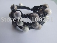 New design ! Europe America Best Popular Artificially weaving Rose Stardust Shiny Bead Fashion Bracelet