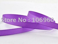 "Wholesale - Free shipping 1/4"" 6mm Purple Favor Grosgrain Ribbon 10Yds LR218"