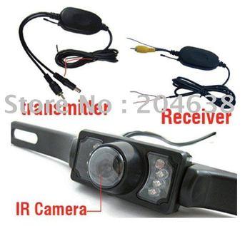 2.4G wireless car rearview camera parking camera 5pcs/lot