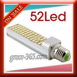 Wholesale E27 52 SMD 5050 LED 13w Light Lamp Cool White 110V-220V Free Shipping