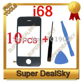 New i68 i68+ Touch Screen Glass Digitizer for  i9 i68 i68+ Java 2.0 Dual SIm Cell Phone,  10pcs a lot