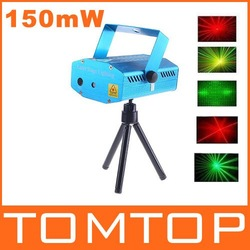 150MW Mini Red &amp; Green Moving Party Laser Stage Light laser DJ party light Twinkle 110-240V 50-60Hz With Tripod Free Shipping(China (Mainland))