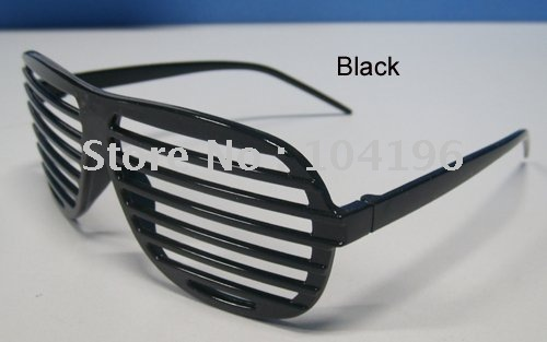 Free shipping! Fashional plastic party sunglasses,Hip Hop Shutter Shades frames Glasses(China (Mainland))