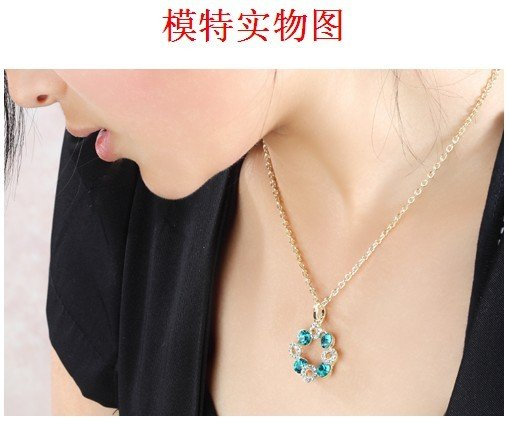 FREE SHIPPING + New 2011 Lucky ball crystal happy Ferris wheel Necklace wholesale fashion necklace(China (Mainland))
