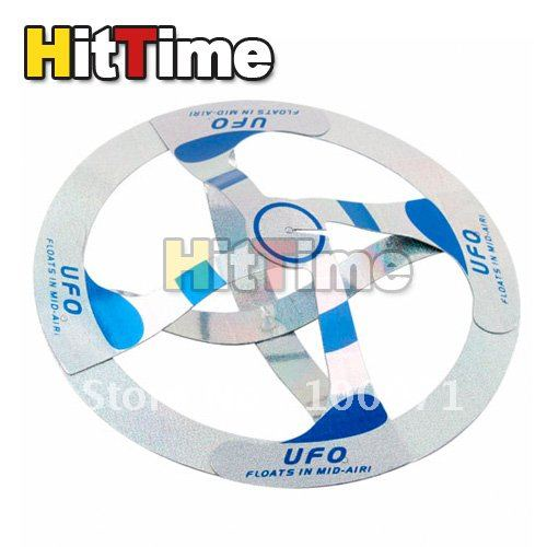 10pcs/lot New Mystery UFO Floating Flying Saucer Toy Magic Trick [4137|01|10](China (Mainland))