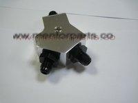 High quality Billet Aluminium hose fitting ,Y-BLOCKS AN6, MP-HF958 SILVER